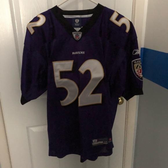 size 40 8040a 9026f #52 Ray Lewis Baltimore Ravens Jersey MENS sz48